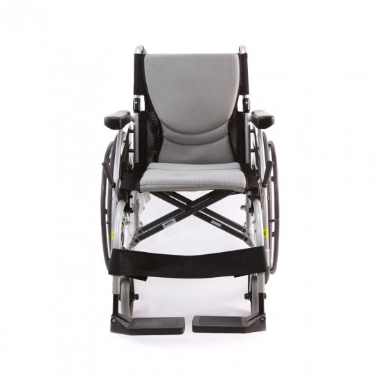 Front view of S Ergo 105 Ultra Lightweight Wheelchair