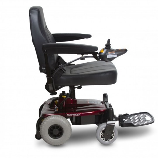 Side View of Shoprider Jimmie Travel Power Wheelchair