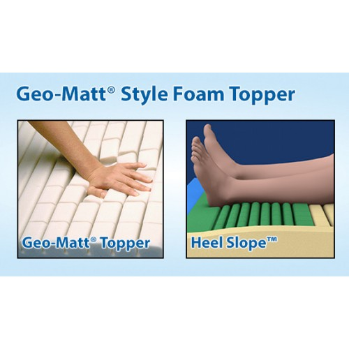 Span America Span-Care Convertible Air Mattress with Geo-Matt Style Foam Topper