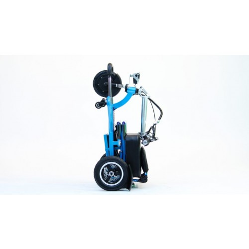 Folded Blue Triaxe Sport Scooter