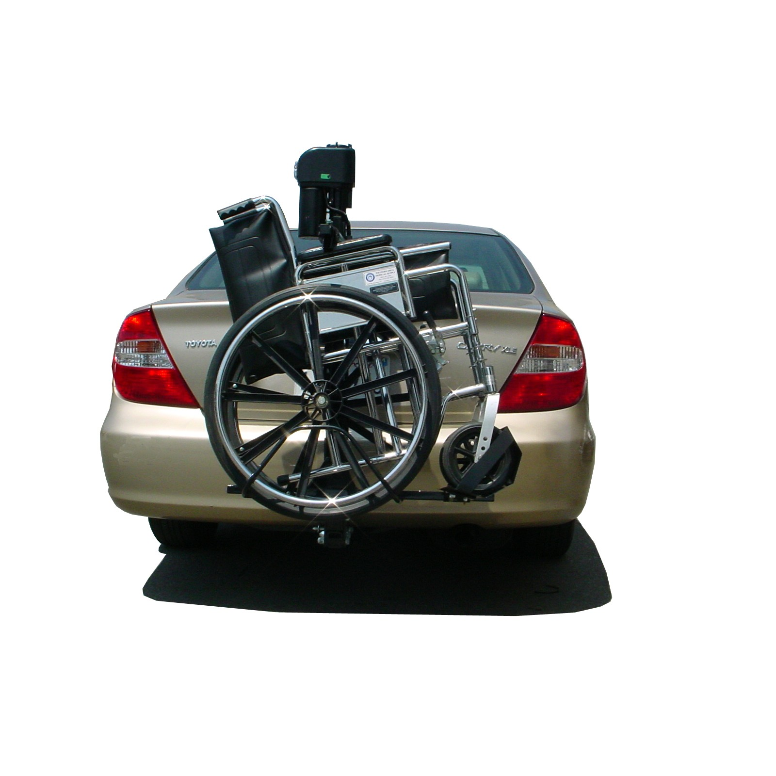 TriLift Mobility Carrier Mobility Scooter & Electric Wheelchair Vehicle Lift with Wheelchair Attached