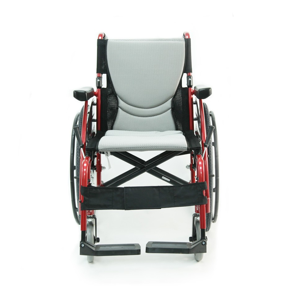 Red Ultra Light Folding Wheelchair Rental
