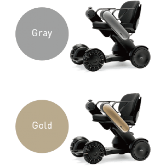 Gray and Gold Handled WHILL Model Ci