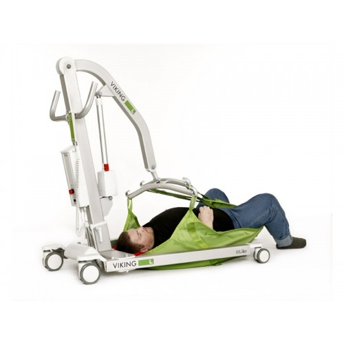 Man laying on sling on a Liko Viking® L Patient Lift