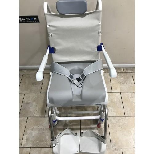 Top view of Aquatec Ocean Dual VIP Tilt Shower Commode Chair