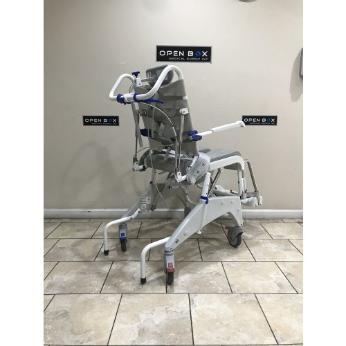 Back view of Aquatec Ocean Dual VIP Tilt Shower Commode Chair