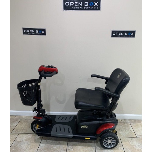 Side view of Buzzaround EX 3 Wheel Mobility Scooter