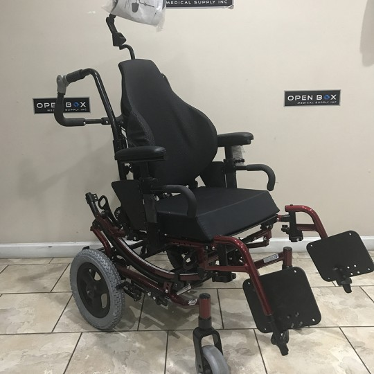 Invacare Solara 3G Tilt-In-Space Wheelchair Red