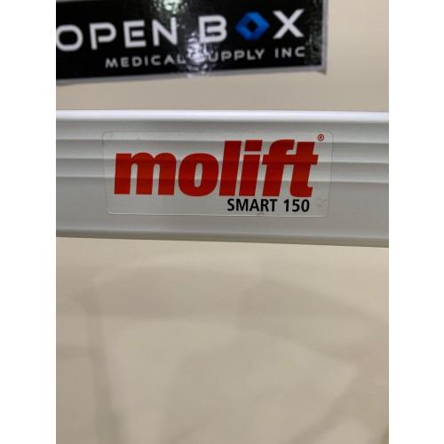 Closeup of Molift logo on Etac Molift Smart 150 Portable Electric Patient Lift