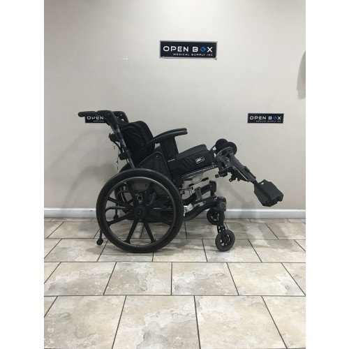 Side view of Reclined Fuze T50 50° Manual Tilt Wheelchair