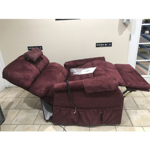 Side view of Gold Tech Comforter PR-501-T28 HD Lift Chair with Head and Feet Extended