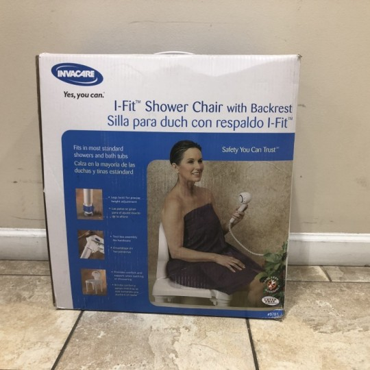 I-Fit Molded Shower Chair with Back