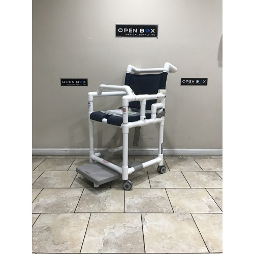 IPU Open Front Soft Seat Deluxe Shower Chair Commode