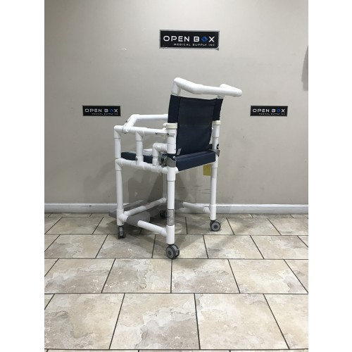Back view of IPU Open Front Soft Seat Deluxe Shower Chair Commode