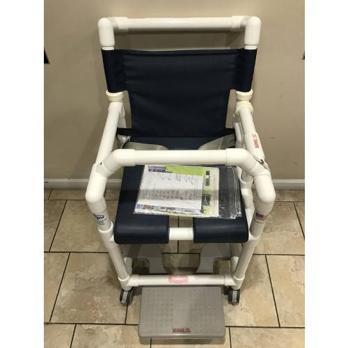 Top view of IPU Open Front Soft Seat Deluxe Shower Chair Commode