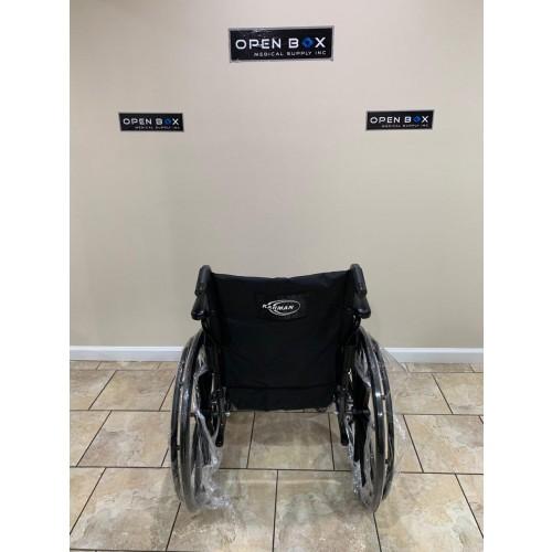 Back view of Karman LT-700T Folding Manual Wheelchair