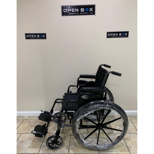 Side view of Karman LT-700T Folding Manual Wheelchair