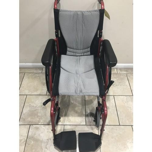 Top view of Karman S-Ergo 115 Folding Wheelchair