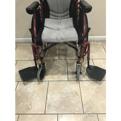 Wheels and Footrests of Karman S-Ergo 115 Folding Wheelchair