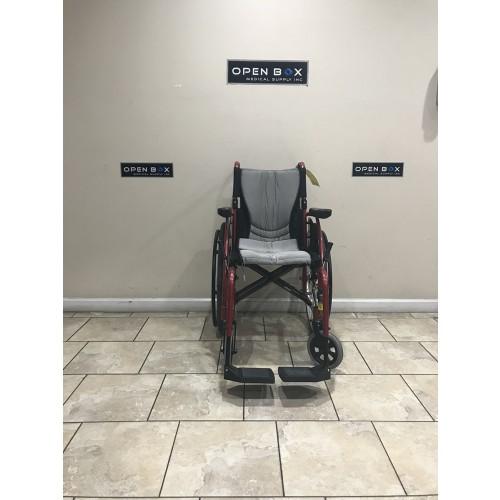 Front view of Karman S-Ergo 115 Folding Wheelchair