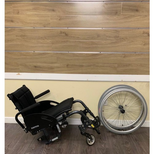 Disassembled parts of Karman S-Ergo ATX Active Wheelchair