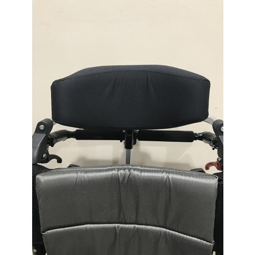 Closeup of headrest on Karman VIP-515-TP Lightweight Tilt-in-Space Wheelchair