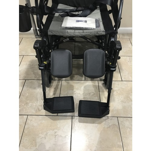 Footrest on Karman VIP-515-TP Lightweight Tilt-in-Space Wheelchair