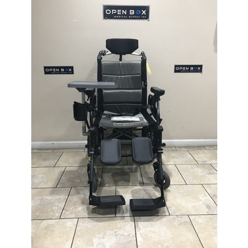 Front view of Karman VIP-515-TP Lightweight Tilt-in-Space Wheelchair