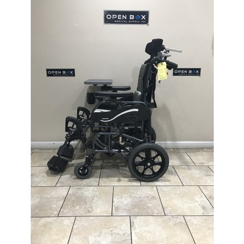 Side view of Karman VIP-515-TP Lightweight Tilt-in-Space Wheelchair