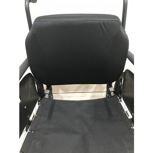 Closeup of Seat on Ki Mobility Rogue TTL Ultralight Rigid Wheelchair