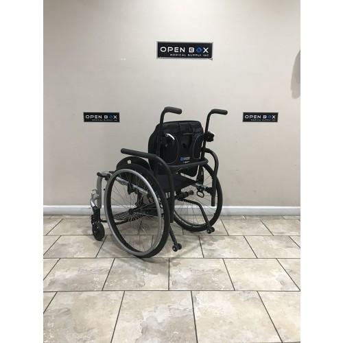 Back view of Ki Mobility Rogue TTL Ultralight Rigid Wheelchair