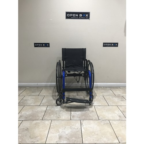 Front view of Manufacturer Demo Kuschall Champion Rigid Foldable Wheelchair