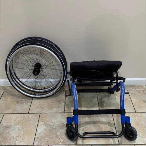 Disassembled Parts of Manufacturer Demo Kuschall K Series Attract Ultralight Wheelchair