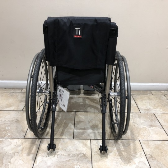 Back view of Manufacturer Demo TiLite 2GX Folding Ultralight Manual Wheelchair