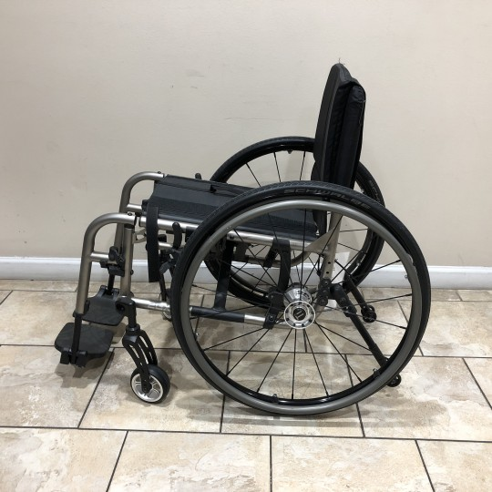 Side view of Manufacturer Demo TiLite 2GX Folding Ultralight Manual Wheelchair