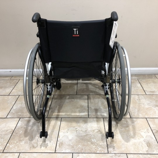 Back view of Manufacturer Demo TiLite Aero X Series 2 Aluminum Folding Manual Wheelchair
