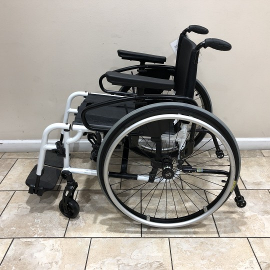 Side view of Manufacturer Demo TiLite Aero X Series 2 Aluminum Folding Manual Wheelchair