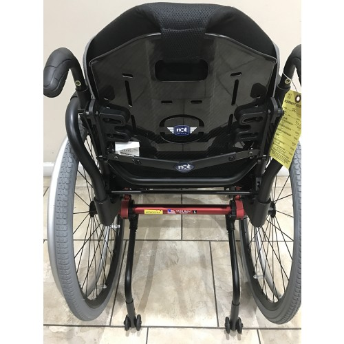 Back view of Manufacturer Demo TiLite ZRA Ultralight Titanium Wheelchair