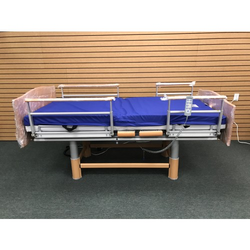 Volker 3080 Full Electric Hospital Bed w/ Mattress Bundle with Rails