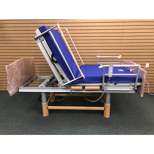 Elevated Volker 3080 Full Electric Hospital Bed w/ Mattress Bundle