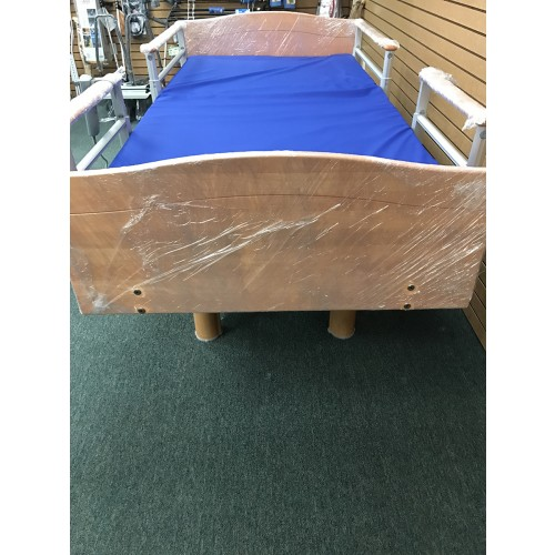 Front view of Volker 3080 Full Electric Hospital Bed w/ Mattress Bundle
