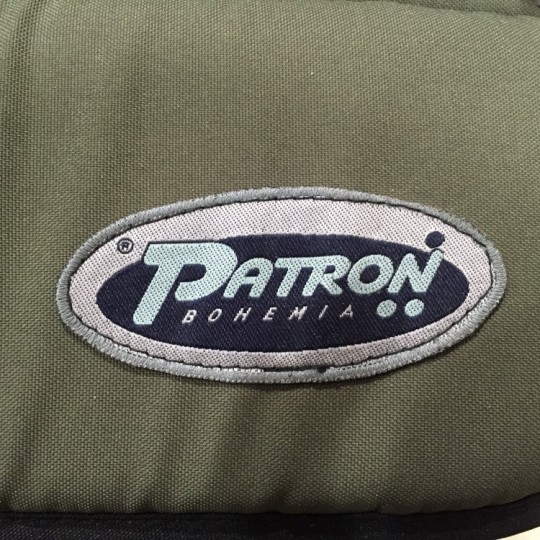 Closeup of Patron logo on Patron Tom 4 Xcountry STD Stroller