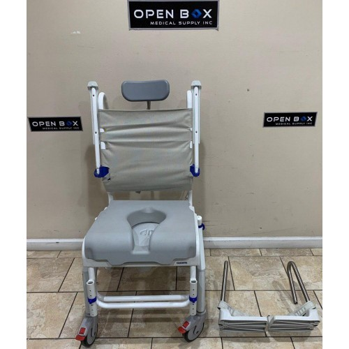 Front view of Invacare Aquatec Ocean VIP and Soft Seat