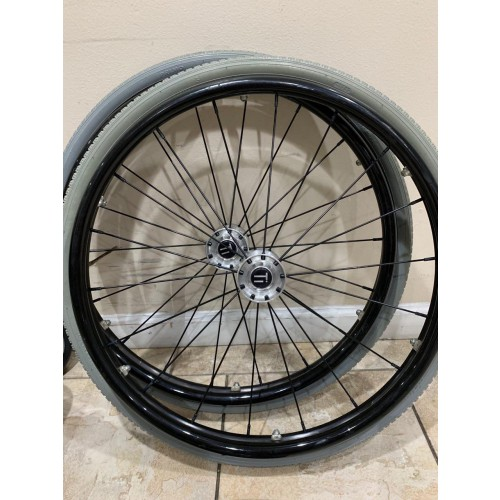 Wheels on TiLite TR Rigid Titanium Ultralight Wheelchair