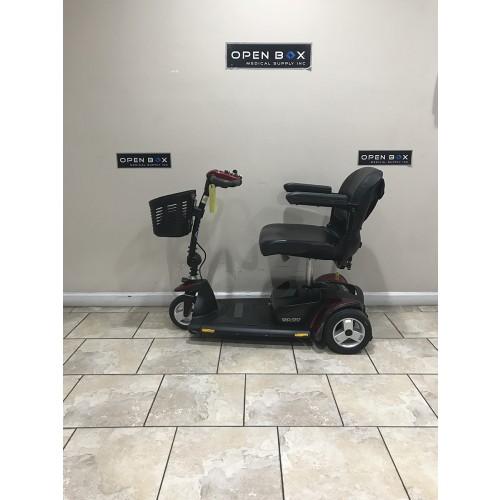 Side view of Pride Go-Go Elite Traveller HD 3-Wheel Scooter