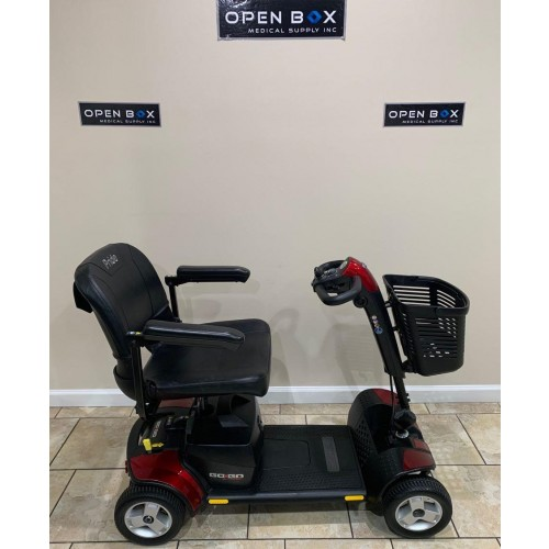 Side view of Pride Go-Go Sport 4 Wheel Mobility Scooter