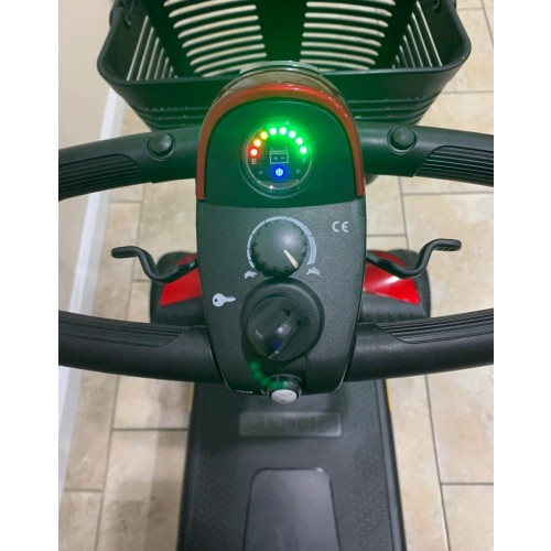 Controls on Pride Go-Go Sport 4 Wheel Mobility Scooter