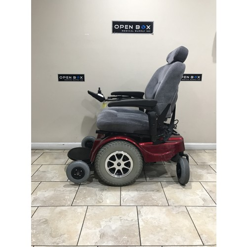 Side view of Pride Jazzy 1170 XL Plus Power Wheelchair