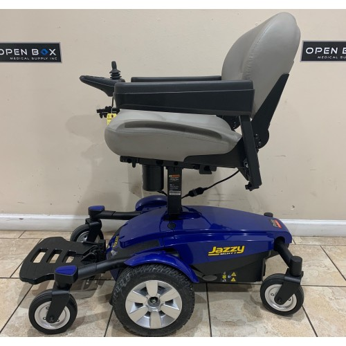 Side view of Pride Jazzy Select 6 With Custom Elevating Seat