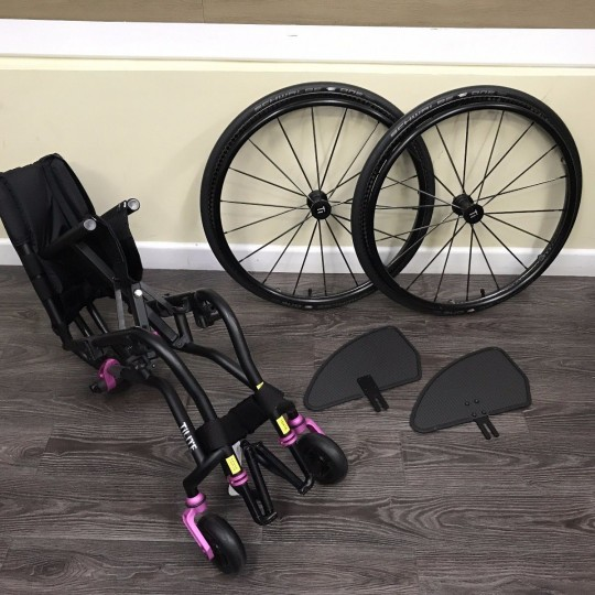 Disassembled Parts of TiLite TX Folding Manual Wheelchair